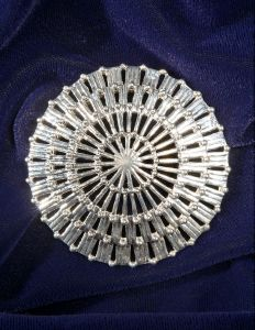 "Empire - 2 1/2"" diameter - 41 grams Sterling Silver"