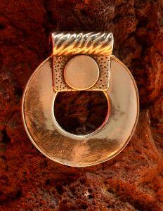"Eternity - 1 7/8"" H x 1 5/8"" W - 25.2 grams Sterling Silver"