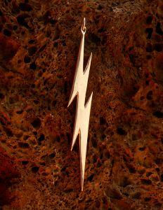 "Lightning Bolt Prime - 4"" H x 5/8"" W - 18 grams Sterling Silver"