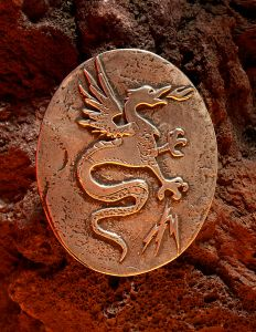 """Norde Dragon - 2 3/4"""" H x 2 1/2"""" W - 53 grams Sterling Silver. Be the flight of the Dragon, see vast worlds pass beneath your great wings, carry the power of fire in your heart, and know wisdom of the ages."""