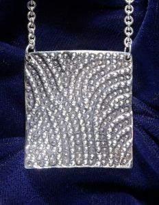"Cascade - 1 5/8"" H x 1 1/2"" W- 33 grams Sterling Silver"